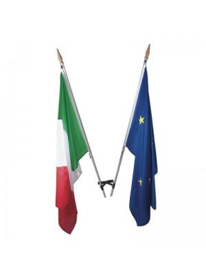 Completo 2 bandiere Italia-Eur 123